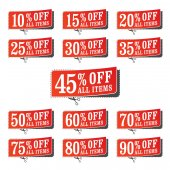 Set of retail coupons — Stock Vector