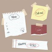Papel timbrado & Doodles — Vetor de Stock