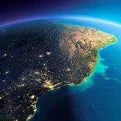 Λεπτομερείς γη. Ανατολική ακτή της Βραζιλίας — Φωτογραφία Αρχείου