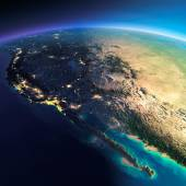 Detailed Earth. Gulf of California, Mexico and the western U.S. — Stock Photo