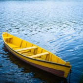 Boat in a river — Stock Photo