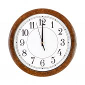 Clock face showing 12 o'clock — Stock Photo