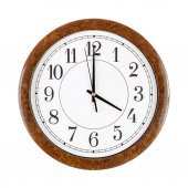Clock face showing 4 o'clock — Stock Photo