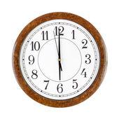Clock face showing 6 o'clock — Stock Photo