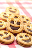 Cookie smile on a table — Stockfoto