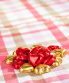 Chocolate candies on a table — Stock Photo