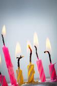 Six burning  candles  — ストック写真
