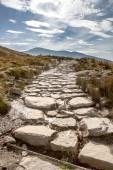 Llanberis path to Snowdon mountain — Stock Photo