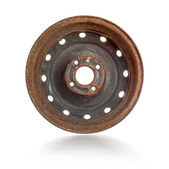 Rusty steel rim isolated — ストック写真