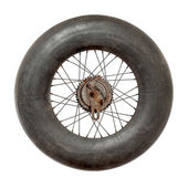 Spoke wheel with inflated tire tube  — Stock Photo