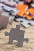 Closeup of Jigsaw Puzzle Piece — Stock Photo