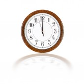 Clock face showing twelve o'clock — Stock Photo