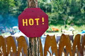 Hot sign — Stock Photo