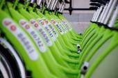 BUDAPEST, HUNGARY - DECEMBER 12 2014:New Budapest bike hire call — Stock Photo