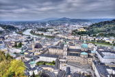 City of Salzburg from the fortress — Stock Photo
