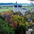 Castle of Neuschwanstein near Munich in Germany on an autumn day — Stock Photo #67409931