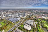 Munich Olympiapark from the TV tover — Stock Photo