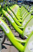 "BUDAPEST, HUNGARY - JUNE 01 2014:New Budapest bike hire called "" — Stock Photo"