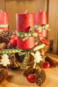 Advent wreath in country style — Stock Photo