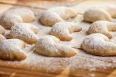 Christmas cookies with vanilla — Stock Photo