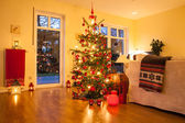 Illuminated Christmas tree — Stock Photo