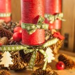 Advent wreath in country style — Stock Photo #56009793