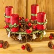 Advent wreath in country style — Stock Photo #56011287