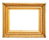 Magnificent golden picture frame — Stock Photo