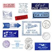Vintage posta pulları — Stok fotoğraf