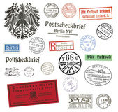 Postage stamps and labels from Berlin, Germany — Stock Photo