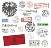 Postage stamps and labels from Berlin, Germany — Stok fotoğraf