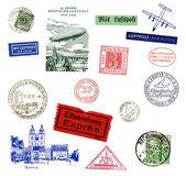Almanya'dan etiketleri ve pulları — Stok fotoğraf