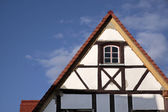 Gable of a half-timbered house — Stock Photo