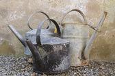 Three old kettles — Stockfoto