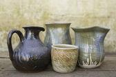 Selection of ceramic jugs — Stock Photo
