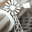 White windmill serviette holder — Stock Photo #70397789