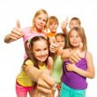 Six kids showing thumbs up — Stock Photo #52641137