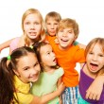 skupinové foto z šesti dětí — Stock fotografie #52641139