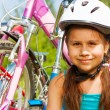 Young girl in blue — Stock Photo #52643075