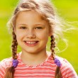 Cute girl with two braids — Stock Photo #52645161