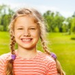 Cute girl with two braids — Stock Photo #52645173
