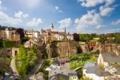 Top view of beautiful Luxemburg city — Stock Photo