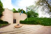 Eternal flame memorial in Luxembourg — Stock Photo