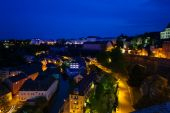 Night view of Luxembourg — Stock Photo