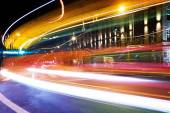Colorful trace lights in Luxembourg — Stock Photo