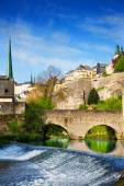 Luxembourg on Alzette river — Stock Photo