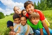 Happy smiling kids — Stock Photo