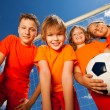 Happy children with ball — Stock Photo #52717707