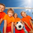 Happy children with ball — Stock Photo #52717715