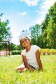 Black girl in park — Stock Photo